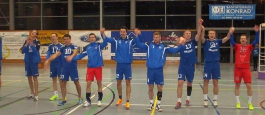 Die PSV-Volleyballer, hier ein Bild vom 3. Spieltag, haben momentan allen Grund zum Jubel.